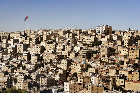 Buildings in Amman city, Jordan photo