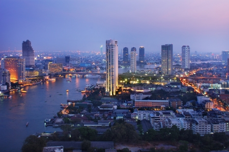 Bangkok city at twilight Stock Photo