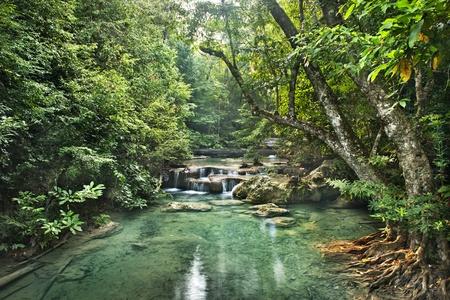 waterfall in Erawan national park , Kanchanaburi , thailand photo