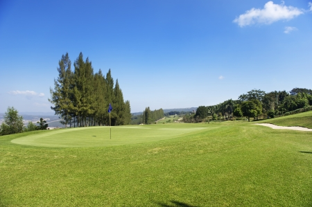 golf course on hill photo