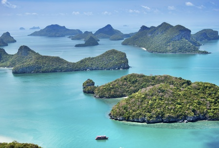 angthong: View point of Ang Thong Islands national park ,Thailand Stock Photo