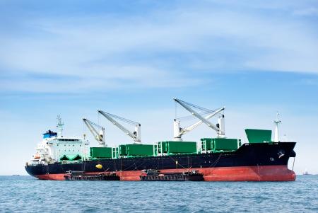 large ship on sea  photo
