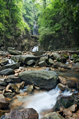 waterfall in  national park , Chanthaburi , thailand photo