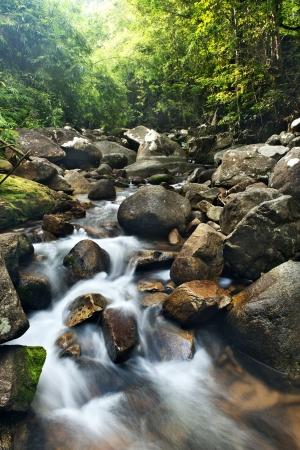 waterfall in  national park , Chanthaburi , thailand photo