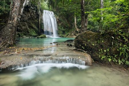 rill: waterfall in Erawan national park , Kanchanaburi , thailand