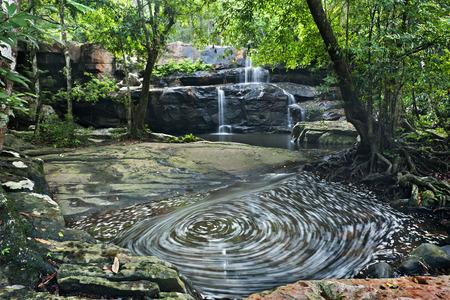 rill: waterfall in Pang Sida national park  , thailand Stock Photo