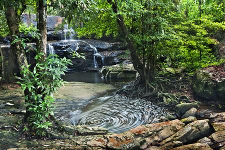 pang: waterfall in Pang Sida national park  , thailand Stock Photo