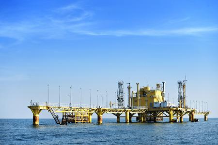 hight tech: Oil transfer station on big sea