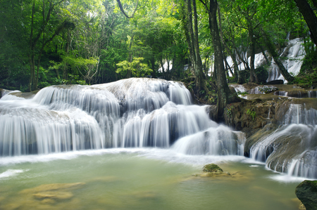 gill: waterfall in national park , Kanchanaburi , thailand