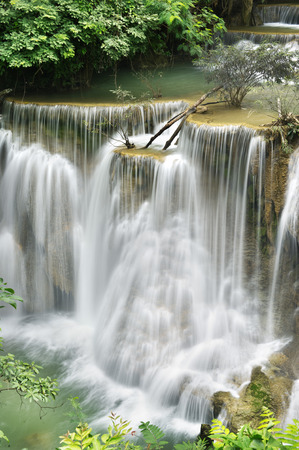khamin: waterfall in national park , Kanchanaburi , thailand