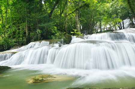 rill: waterfall in national park in rainy season, Kanchanaburi , thailand