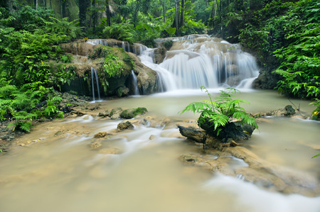 rill: waterfall in national park ,Phrae  ,north of thailand Stock Photo