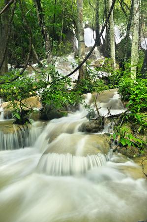 kanchanaburi: waterfall in national park , Kanchanaburi , thailand