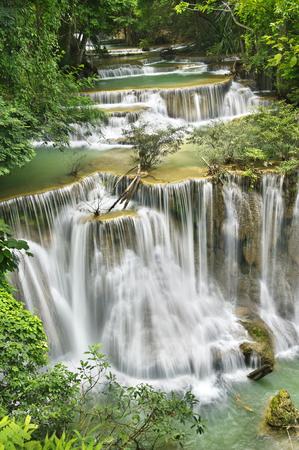 waterfall in national park , Kanchanaburi , thailand