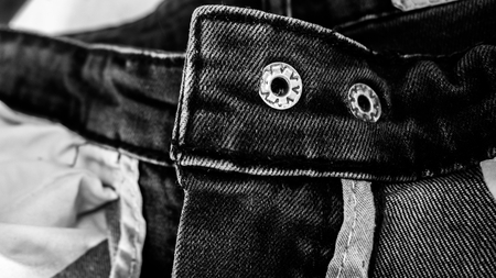 jeans texture: black jeans texture abstract background : black and white tone Stock Photo