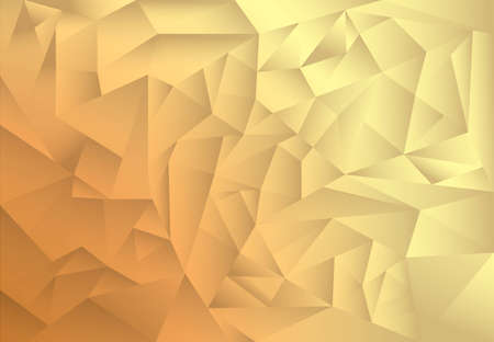 shade: polygon pattern abstract background, gold and brown theme shade, illustration, copy space for text