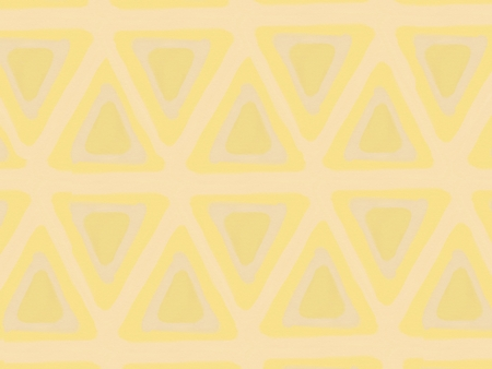 peper: triangle pattern abstract background, brown and yellow theme, illustration, watercolor paint style, copy space for text Stock Photo