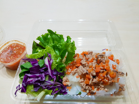 Fresh Vegetable Rice Wraps With Pork, Spring Rolls