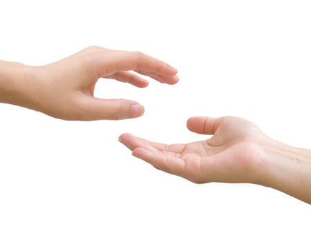 Hands together, Giving and receiving hands