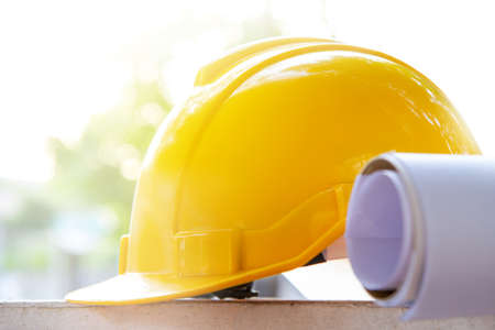 Safety helmet and construction plan paper roll