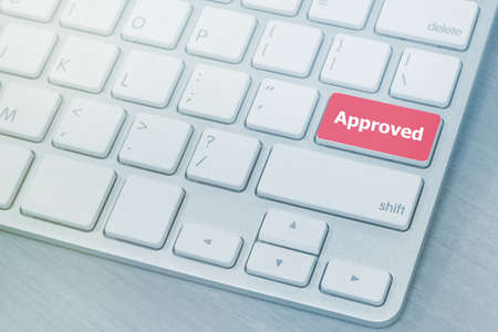 red approved button on keyboard