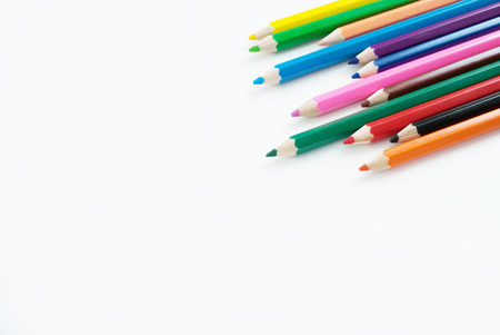pencil color art background empty for text or copy copy Imagens