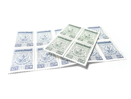 taxpayers: Revenue stamp of Thailand  with white background isolate
