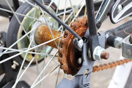 oldish: rust crumbles