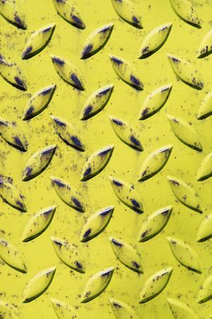checker plate: Yellow metal sheet checker plate