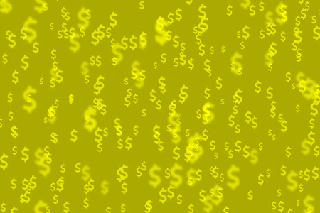argent: Money bokeh yellow color full  background
