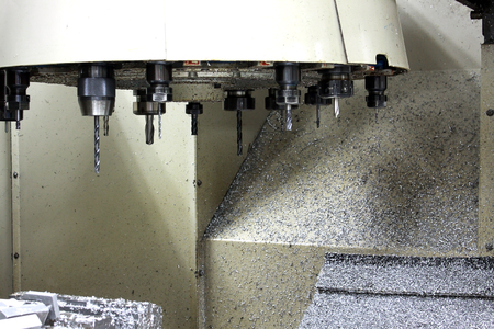 machining center: Tool set in side the machine