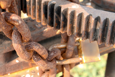 sprockets: Rusty chains and sprockets background