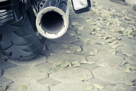 chrome: Motorcycle chrome exhaust
