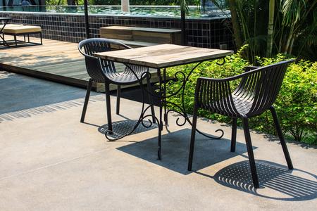 furniture: Garden furniture Stock Photo
