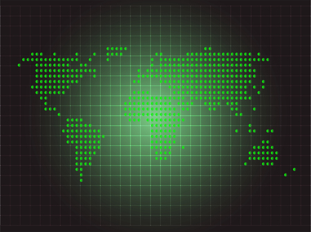 green world: Green World Map Background, World Distribution Business Illustration