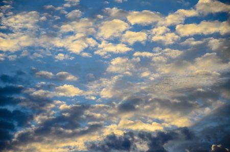Sky with clouds at sunset in Thailand Stock Photo