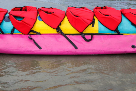 stimulating: Colorful of banana boat in Thailand