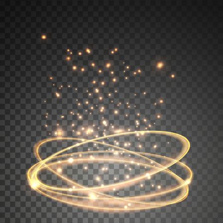 Light effect gold vector circle. Illustration