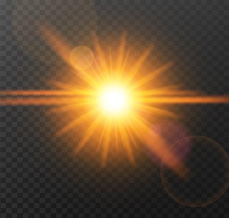 springtime: A Vector transparent sunlight special lens effect.