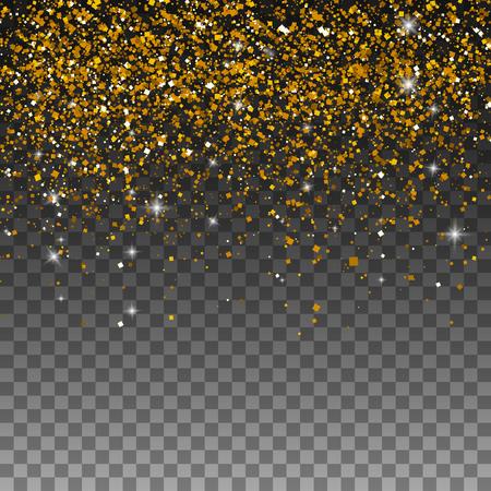 Gouden glitter deeltjes achtergrond effect voor luxe groet rijke kaart. Vector illustratie Stockfoto - 79329056