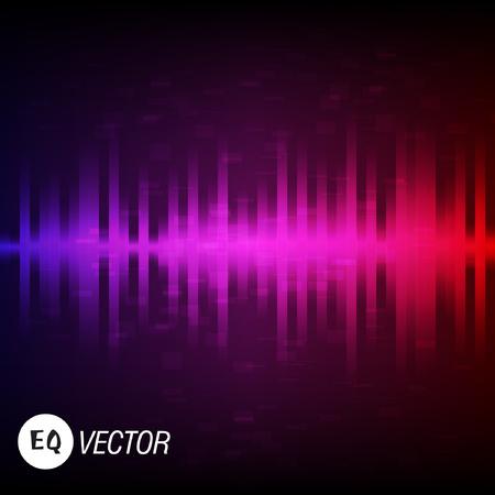 Bunter Equalizer. Audio-Schallwelle. Vektor-Illustration.
