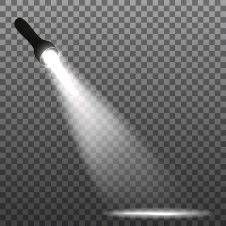 투명 한 배경에 손전등입니다. 벡터 일러스트 레이 션. 스톡 콘텐츠 - 80347993