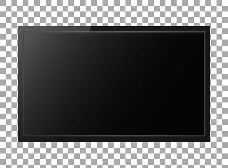 Realistic tv on transparent background, Vector illustration. Illustration