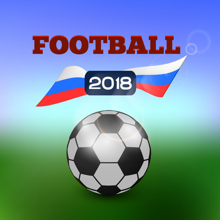 Football tournament 2018. Soccer world cup in russia 2018. Vector Illustration