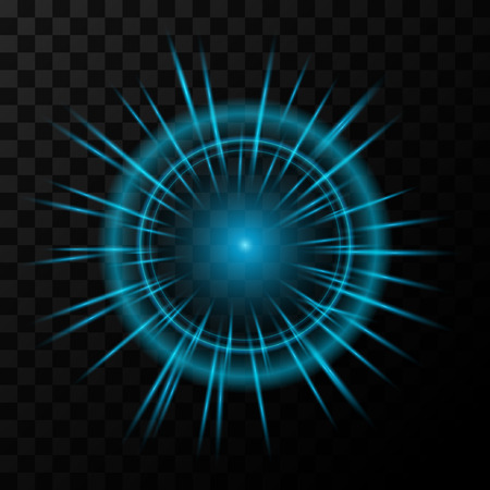 special effect: Tehno blue Glow light effect. Vector illustration.