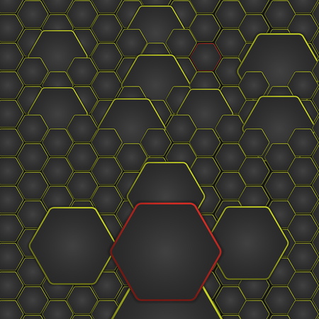 backlighting: Abstract vector illustration with hexagonal structure and backlighting. Illustration