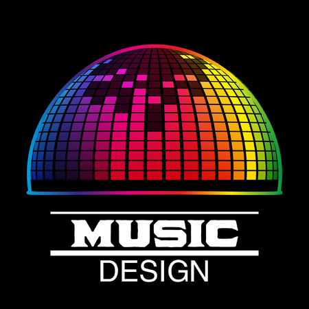 Music Design. Abstract Background with Colorful EQ Effect. Vector illustration Illustration