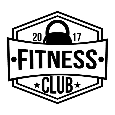 Fitness club logo types templates in vintage styles.  workout sport club. Vector illustration.