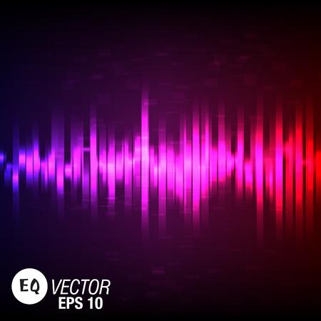 Color Music equalizer design. Vector Illustration
