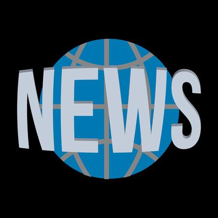 live stream tv: News world globe symbol vector icon. Illustration
